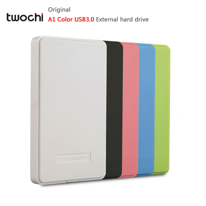 New Styles TWOCHI A1 5 Color Original 2.5'' External Hard Drive 250GB USB3.0 Portable HDD Storage Disk Plug and Play On Sale