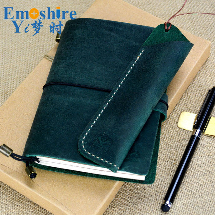 Leather Notebook Diary Loose-leaf Notebook Vintage Travel Notepad Leather Notepad Customization Office School Supplies N112