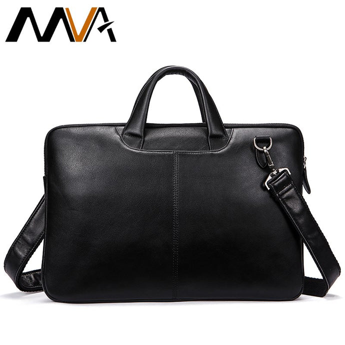 MVA Men Briefcases Genuine Leather Shoulder Bags Black Handbags Business Bag Men for Document Male Briefcases Leather Laptop Bag