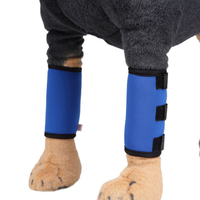 2pcs Pets Knee Pad Dog Leggings Single Section Supportive Wound Protector Pet Injury Protection Tool
