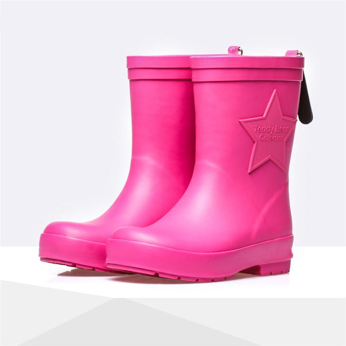 Children Girls Simple Rain Shoes