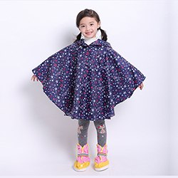 high quality kids fashion waterproof polyester reusable wholesale raincoats poncho in pocket various colors for raining day