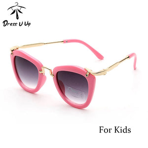 DRESSUUP Candy Cute Boys Girls Kids Sunglasses Vintage Sun Glasses Children Cat Eye Sunglass Oculos infantil De Sol 6 Colors