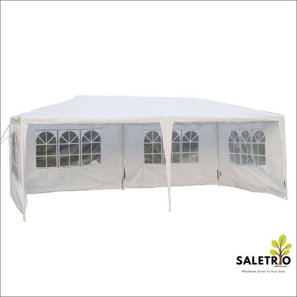10X 20 Party Tent Wedding Gazebo Canopy Outdoor W/4 Sidewalls New - Sports & Outdoor - Free Shipping