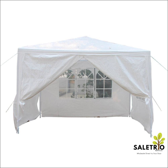 10X10 4 Walls Outdoor Canopy Party Wedding Tent Heavy Duty Gazebo Awnings New - Sports & Outdoor - Free Shipping