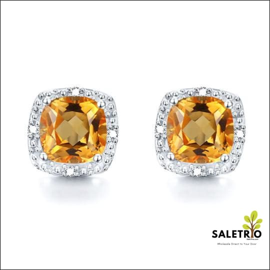 Genuine Natural Citrine Earrings - Jewelry & Watches - Free Shipping