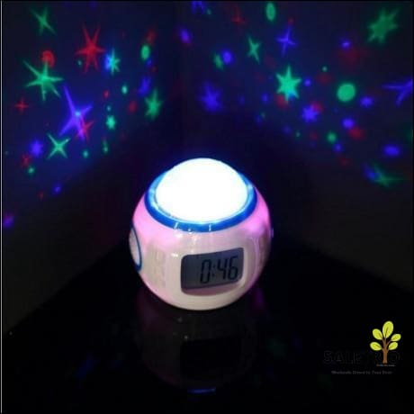 Musical Star Projection Alarm Clock - Consumer Electronics - Free Shipping