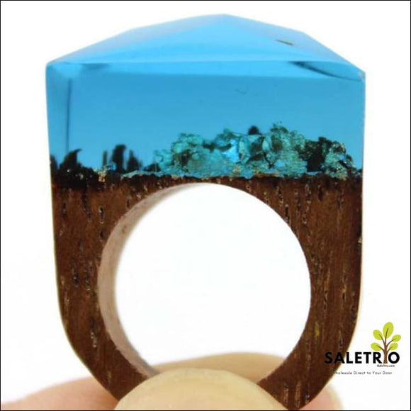 Ocean Oasis Wood Ring - Jewelry & Watches - Free Shipping