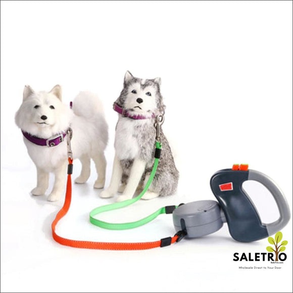 Retractable Dual Dog Leashes - Pets - Free Shipping