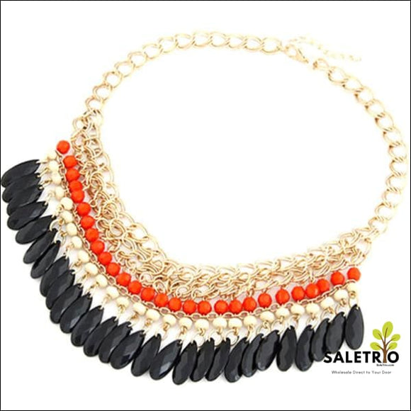 Tasteful Traditional Statement Necklace - Orange - Jewelry & Watches - Free Shipping