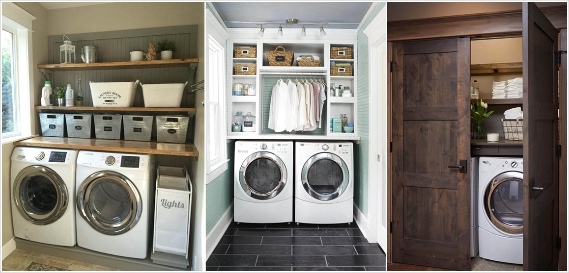 shelving designs for laundry room