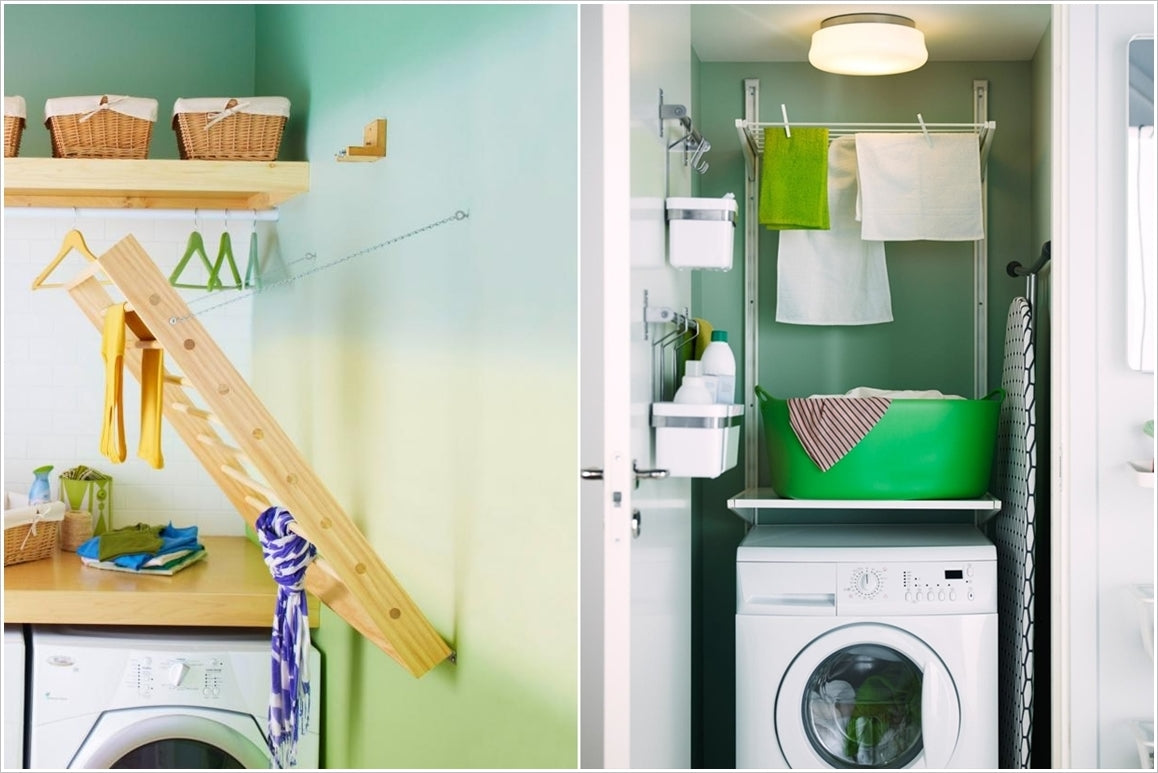 wall mounted clothes drying racks and shelves