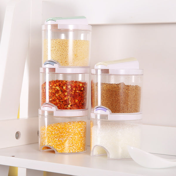 Stackable 5 Piece Spice Jar Set | Kiwi Organiser
