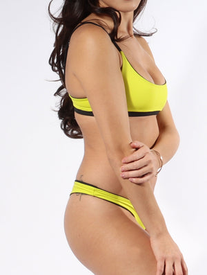 Finally a scoop neck bikini that fits just right, meet the Isla top in Limelight.