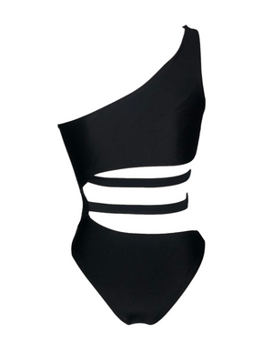 Stormy One Piece Swimsuit - Black
