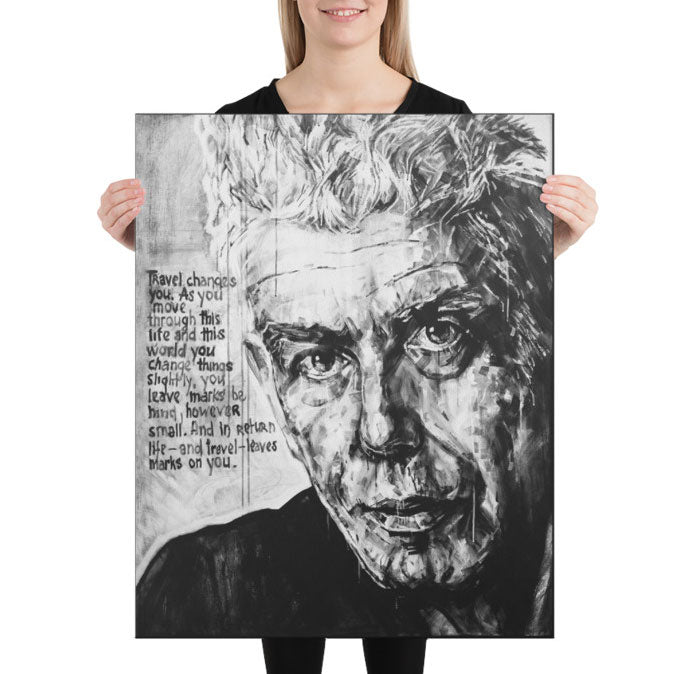 Anthony Bourdain Quote Print Canvas