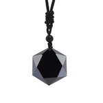 Black Obsidian Star Necklace