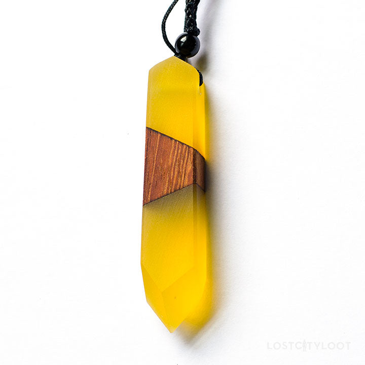 Elemental Wood Resin Necklace