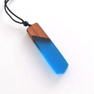 Handmade Wood Resin Necklace Pendant