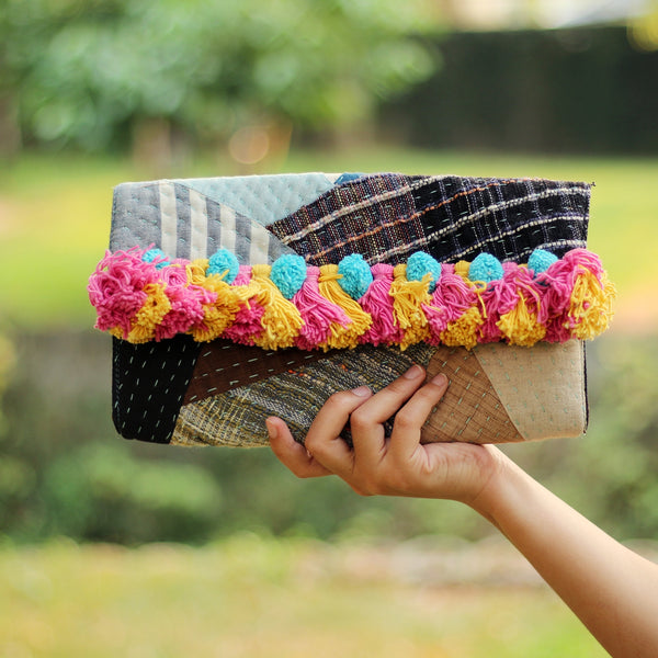 Beautiful works of patchwork, vintage handbags