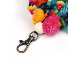 Load image into Gallery viewer, Handmade crocheted happy Hawaiian girl keychain ACCV003