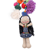 Load image into Gallery viewer, Handmade crocheted Hmong hill tribe girl keychain ACCV004