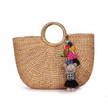 Load image into Gallery viewer, Handmade crocheted Hmong hill tribe girl keychain ACCV005