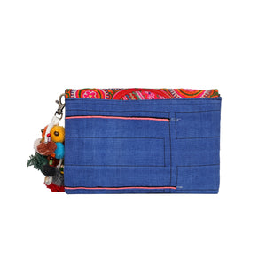Blue vintage crossbody&clutch bag CCB003