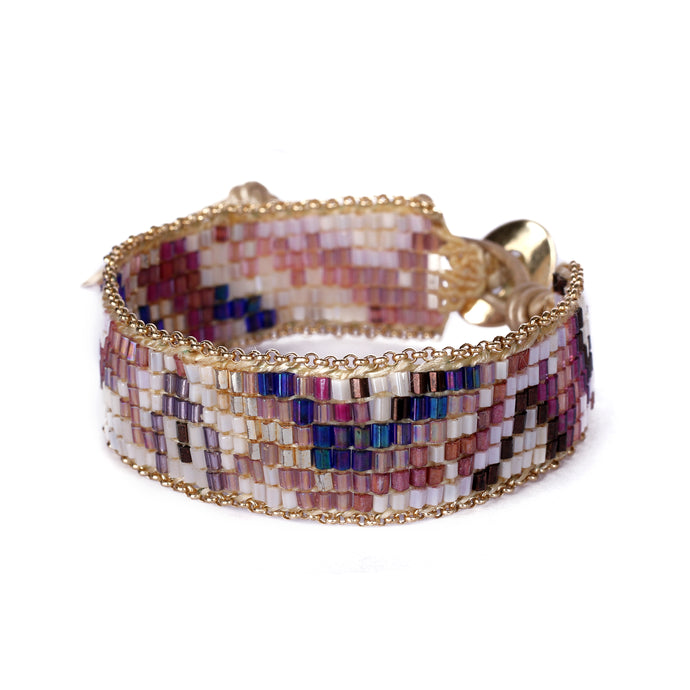 Purple Beaded Bracelet JB007