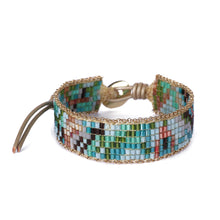 Load image into Gallery viewer, Green Beaded Bracelet JB004