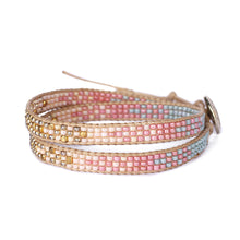 Load image into Gallery viewer, 2Wraps Pastel Pink Beaded Bracelet JB010