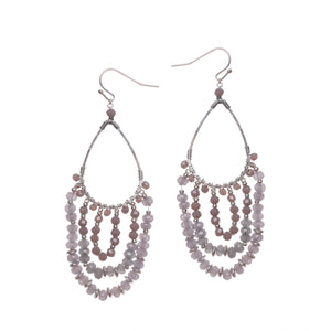 Grey Chandelier Earrings JE065