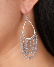Load image into Gallery viewer, Grey Chandelier Earrings JE065