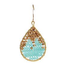 Load image into Gallery viewer, Turquoise drop earrings ER001TU