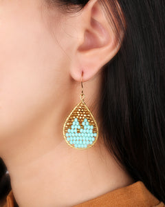 Turquoise drop earrings ER001TU