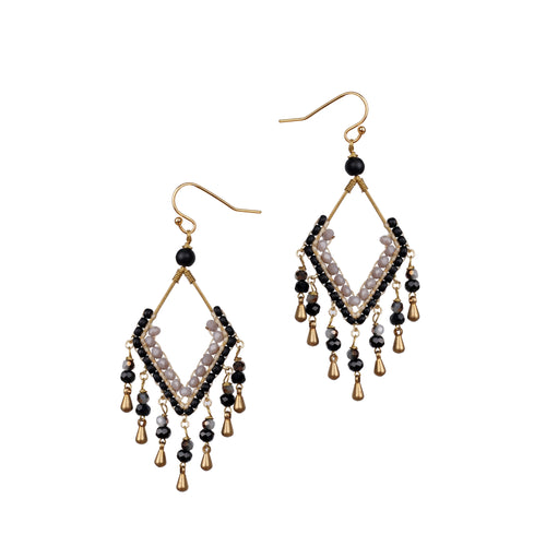Black Chandeliers Earrings JE006