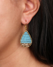 Load image into Gallery viewer, Turquoise Drop Earring JE026