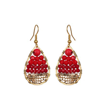 Load image into Gallery viewer, Red Small Drop Earring JE028