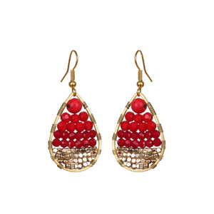Red Small Drop Earring JE028