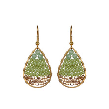 Load image into Gallery viewer, Lime Green Drop Earring JE030