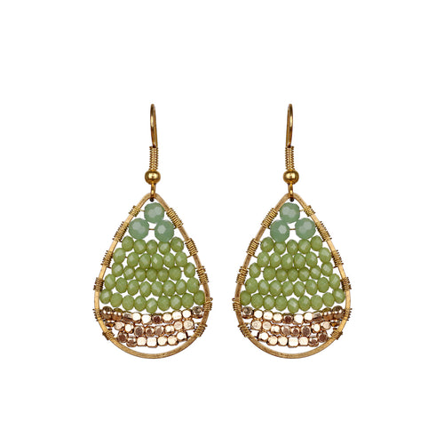 Lime Green Drop Earring JE030