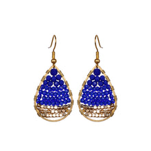 Load image into Gallery viewer, Navy Blue Drop Earring JE032