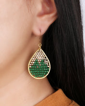 Load image into Gallery viewer, Green drop earrings ER001G