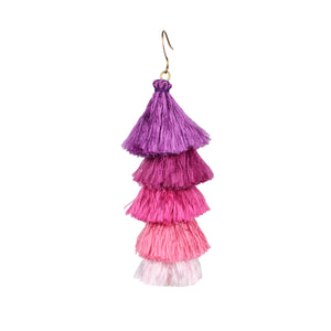 Purple tassels earrings JE018