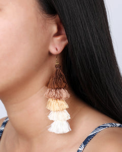 Gold tassels earrings JE019