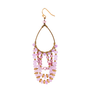 Pink Chandelier Earrings JE009