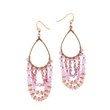 Load image into Gallery viewer, Pink Chandelier Earrings JE009