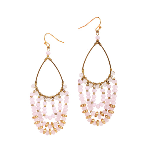 Light Pink Chandelier Earrings JE008