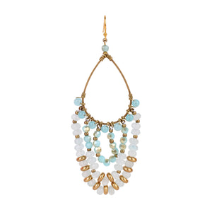 Blue Chandelier earrings JE007