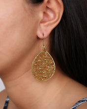 Load image into Gallery viewer, Golden Drop Earring JE024